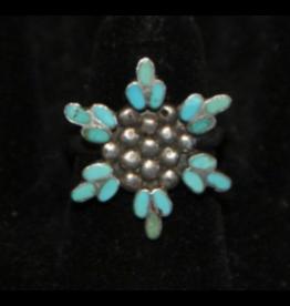 jewelry VIntage Zuni Snowflake Ring