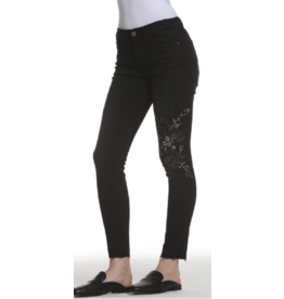 APPAREL Black Floral Jeans by Driftwood Jeans