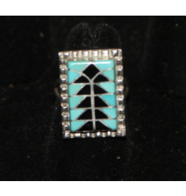 jewelry Sterling Inlay Turquoise RIng