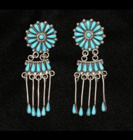 jewelry Turquoise Chandelier Earrings by E.M. Begay
