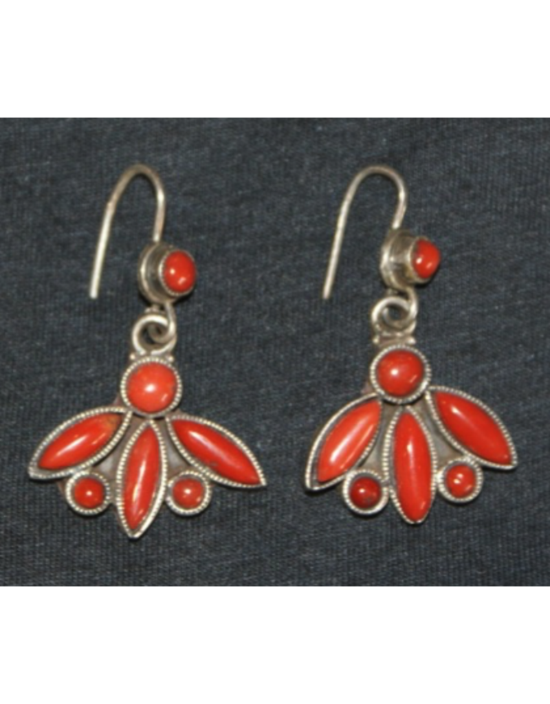 jewelry Vintage Coral Earrings