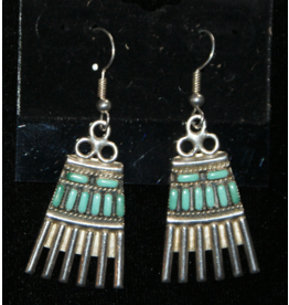jewelry Vintage Zuni Earrings with Carico Lake Turquoise