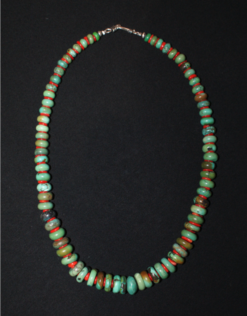 jewelry Vintage Turquoise & Coral Necklace