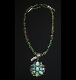 jewelry Vintage Navajo Royton Pendant on Turquoise Chain