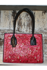 ACCESSORIES Red Tooled Purse