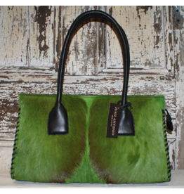 ACCESSORY Hair on Antelope Green Purse