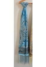 ACCESSORIES Light Blue Bandana Scarf