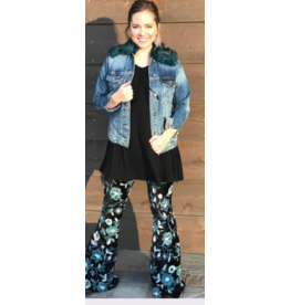 APPAREL KRISTI TIGHT VELVET BELL BOTTOMS