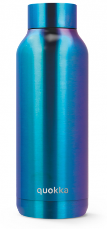 Quokka Stainless Steel Bottle 17oz Neon Chrome