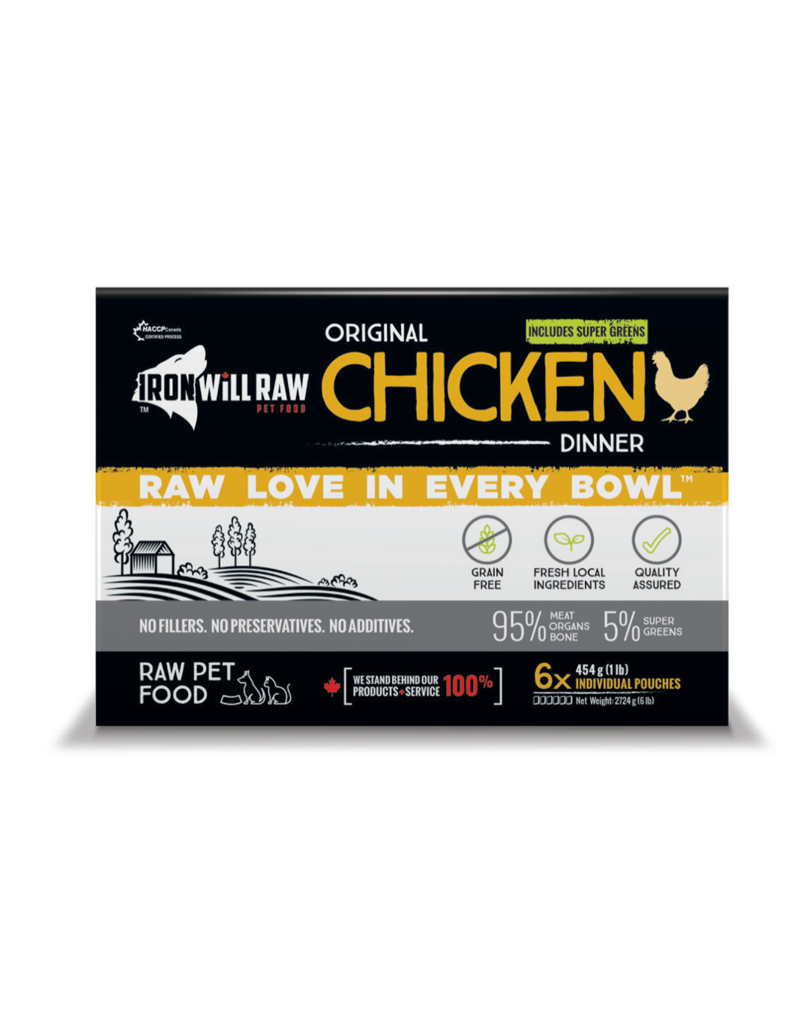 Iron Will Raw Iron Will Raw - Original Chicken 6LB