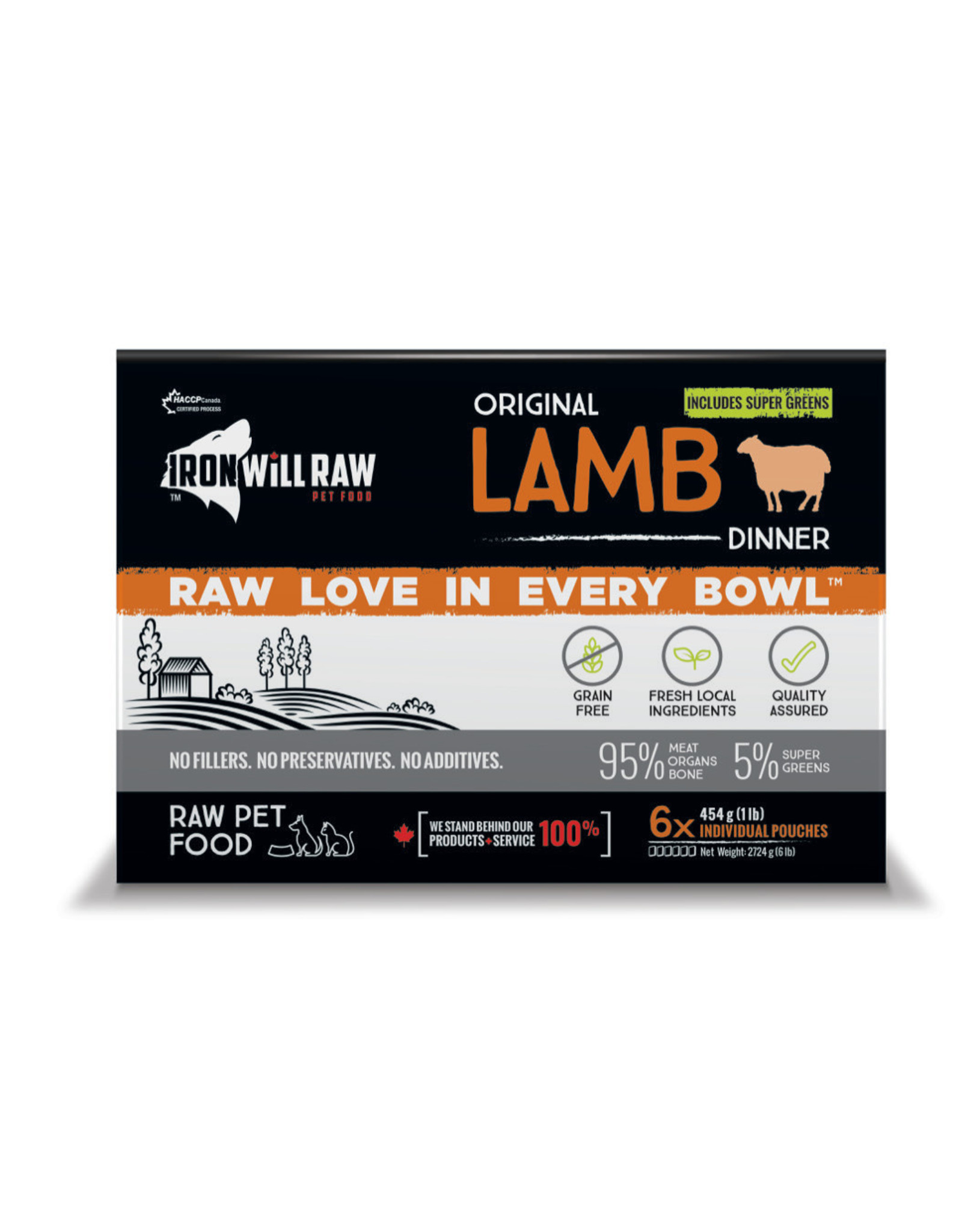Iron Will Raw Iron Will Raw - Original Lamb 6LB