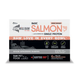 Iron Will Raw Iron Will Raw - Basic Salmon - 6LB