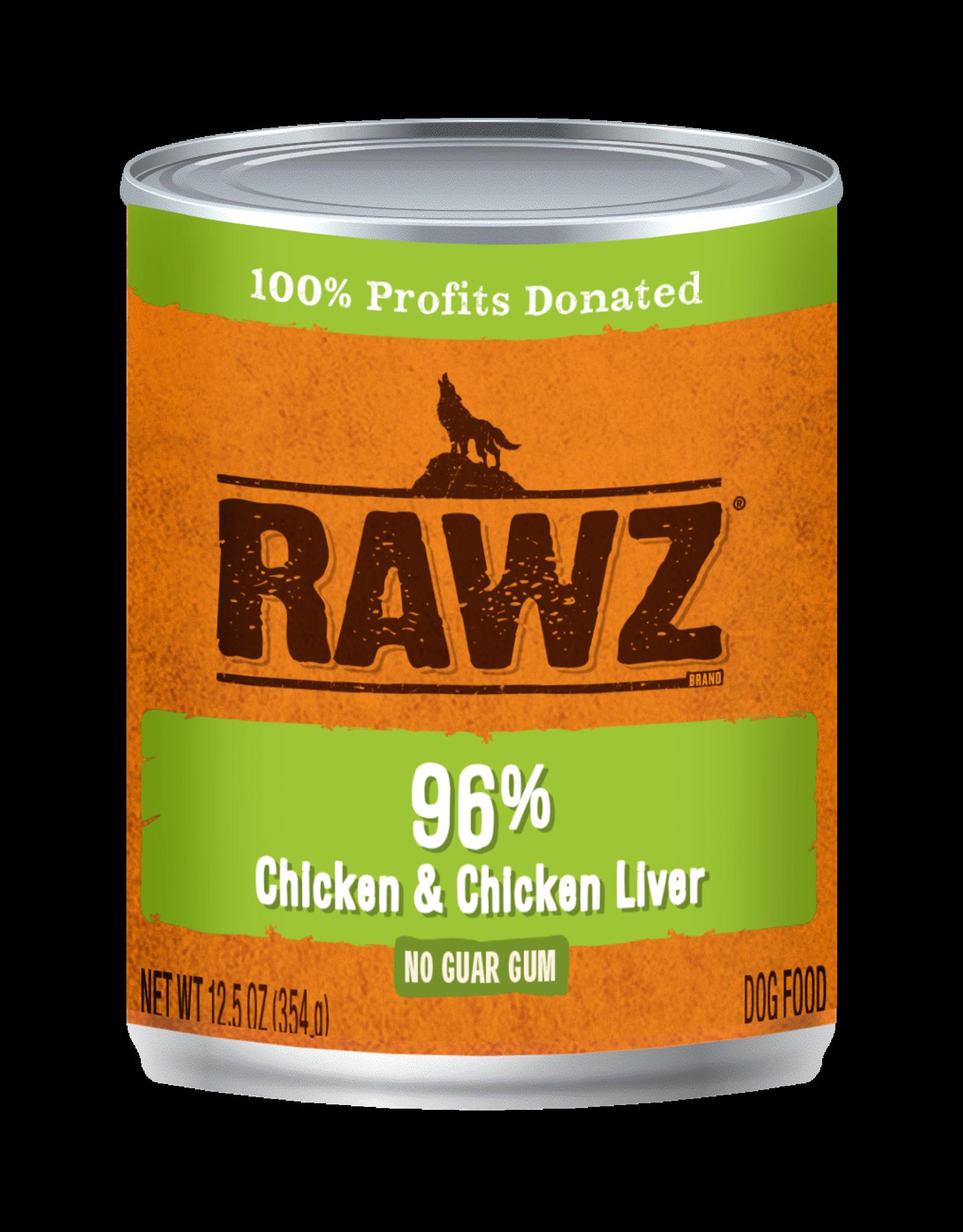 Rawz Rawz - 12.5oz Can - Chicken/Chicken Liver