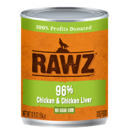 Rawz Rawz - 12.5oz Can - Chicken/Chicken Liver