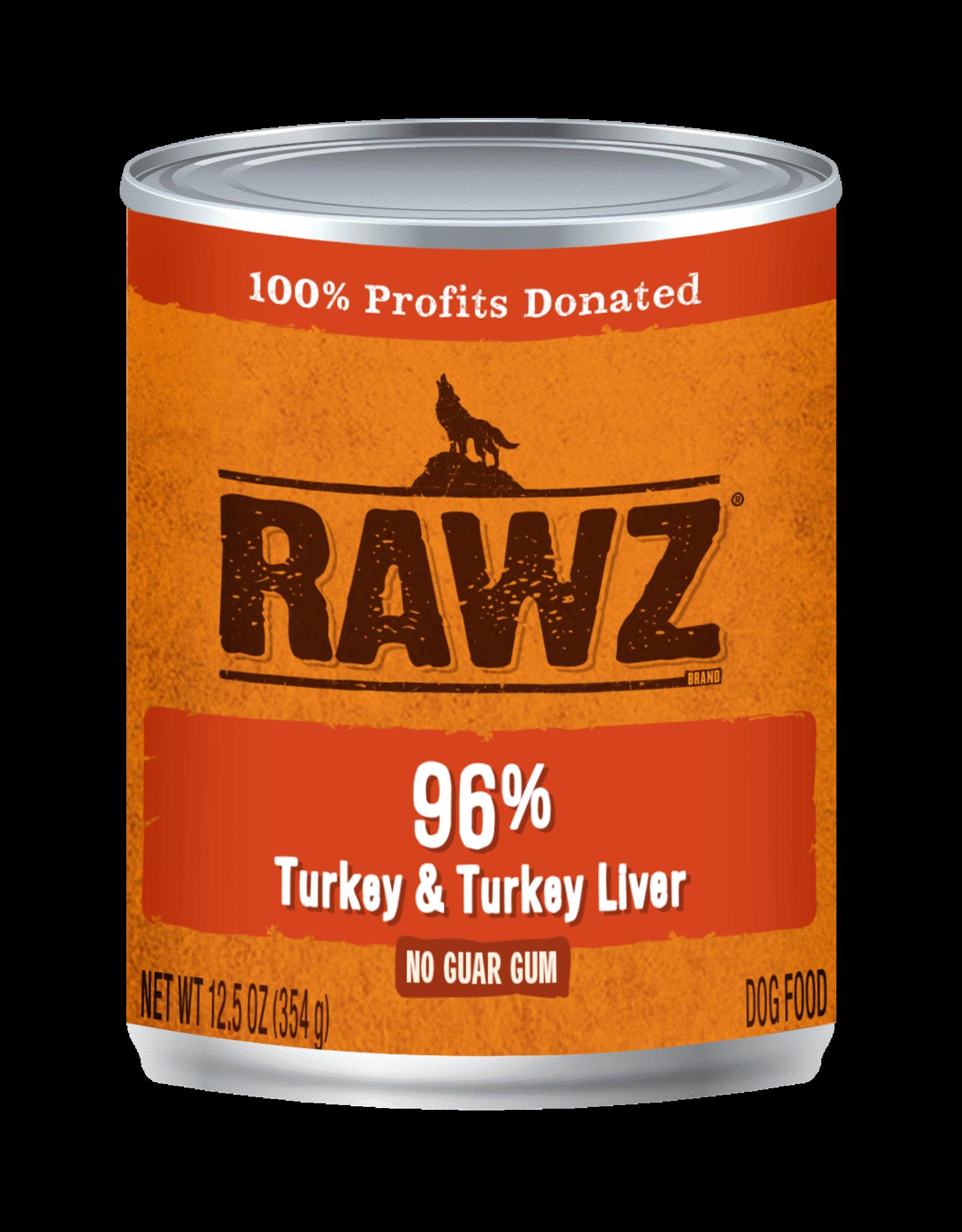 Rawz Rawz - 12.5oz Can - Turkey & Turkey Liver