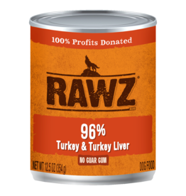 Rawz Rawz - 12.5oz Can - Turkey & Turkey Liver