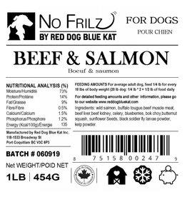Red Dog Blue Kat Red Dog Blue Kat - No Frillz - Beef & Salmon - 1lb