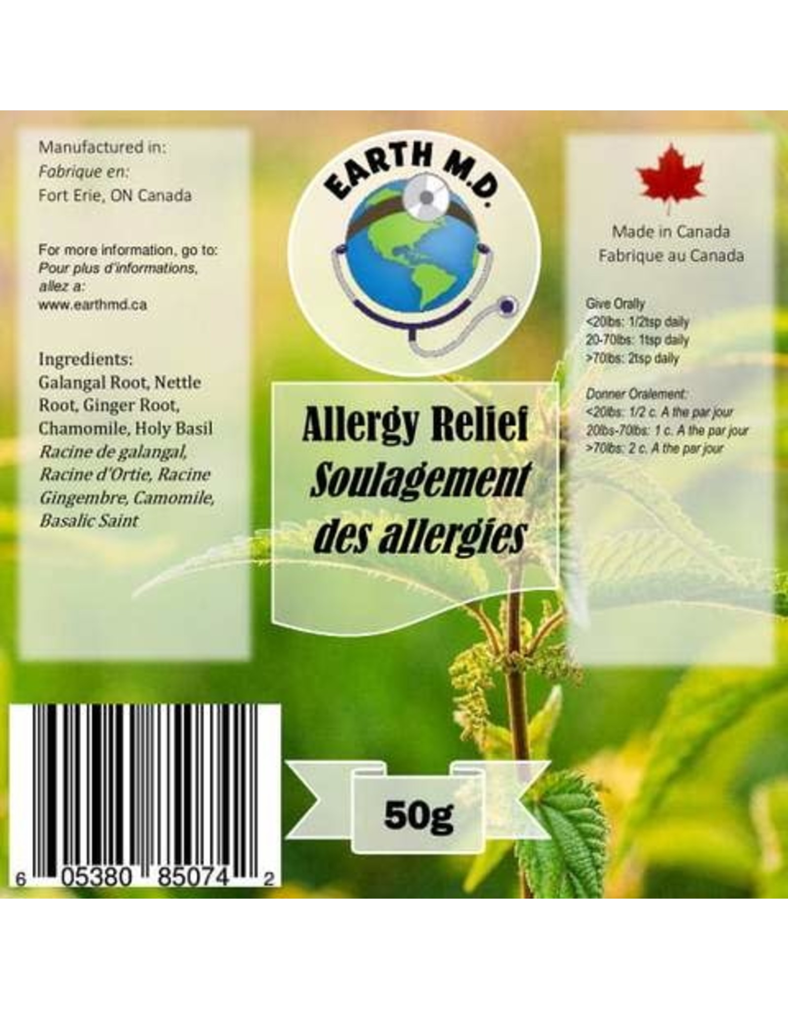 Earth MD Earth MD - Allergy Relief (50g)