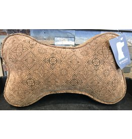 Bowsers Bowsers - Bone Sofa Pillow - Pecan Filigree
