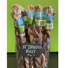 "Nature's Own Nature's Own - 12"" Braided Bully Stick - Angus"
