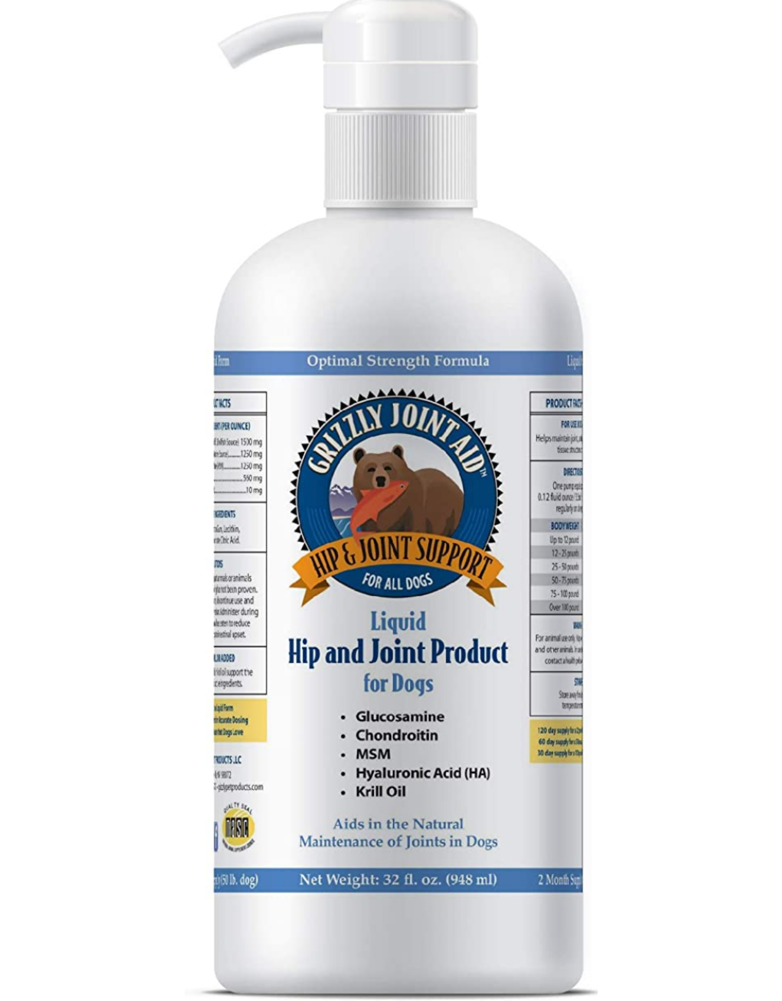 Grizzly Pet Products Grizzly Joint Aid Liquid - 32oz