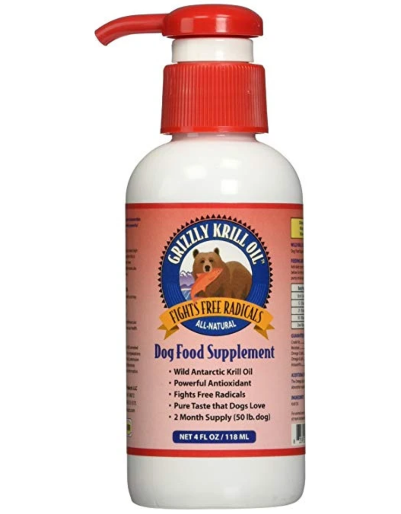 Grizzly Pet Products Grizzly Krill Oil - 4oz