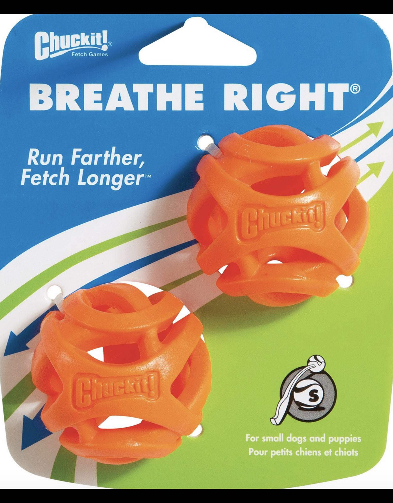 Chuckit Chuck it - Breath Right Fetch Ball - Small 2pk