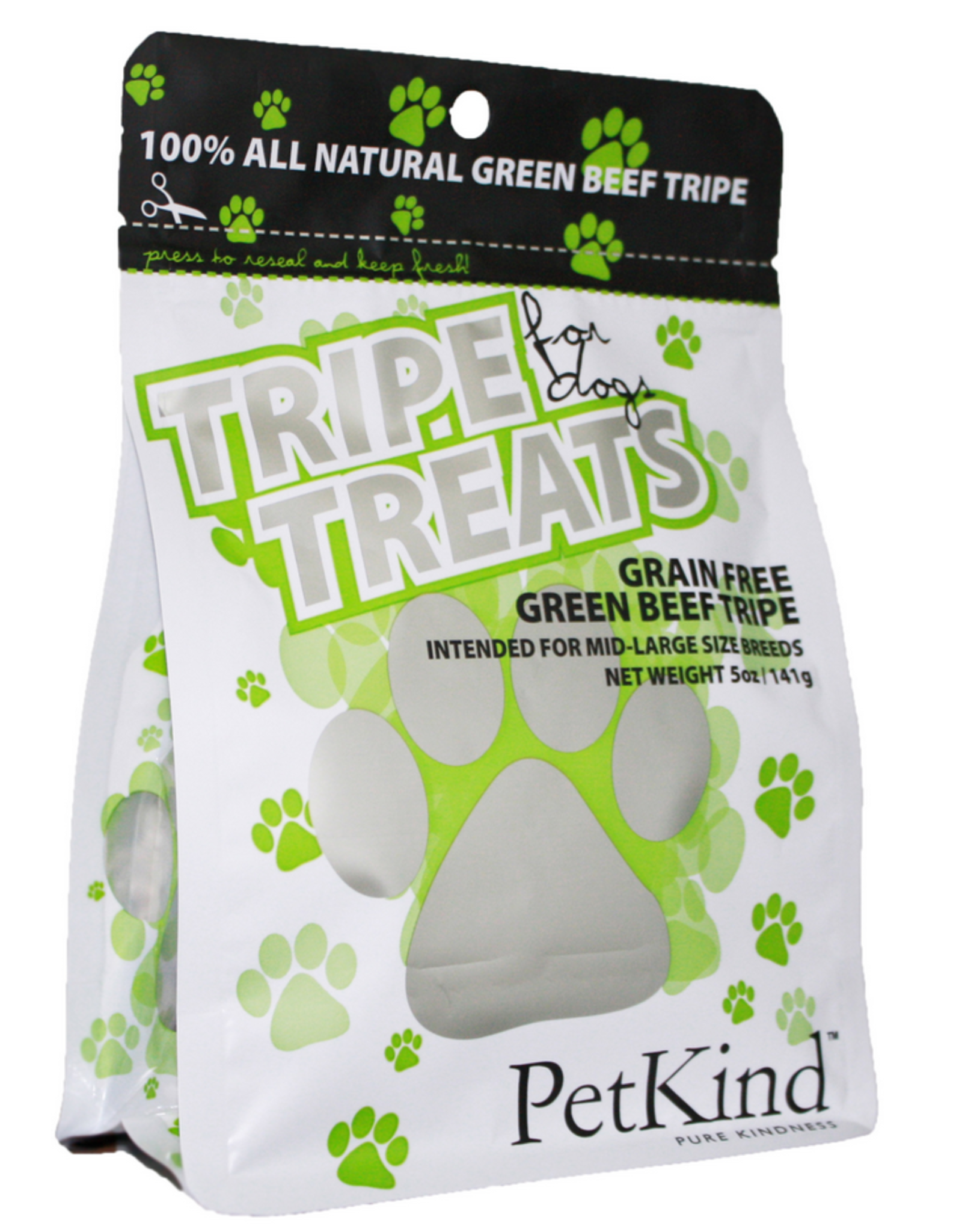 PetKind Petkind - Tripe Treat - Pure Green Beef Tripe - 5oz