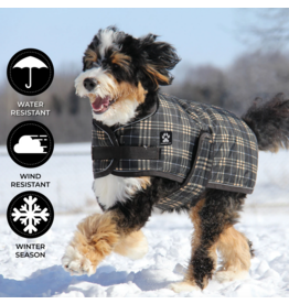 ShedrowK9 Shedrow - Glacier Brown Plaid Coat