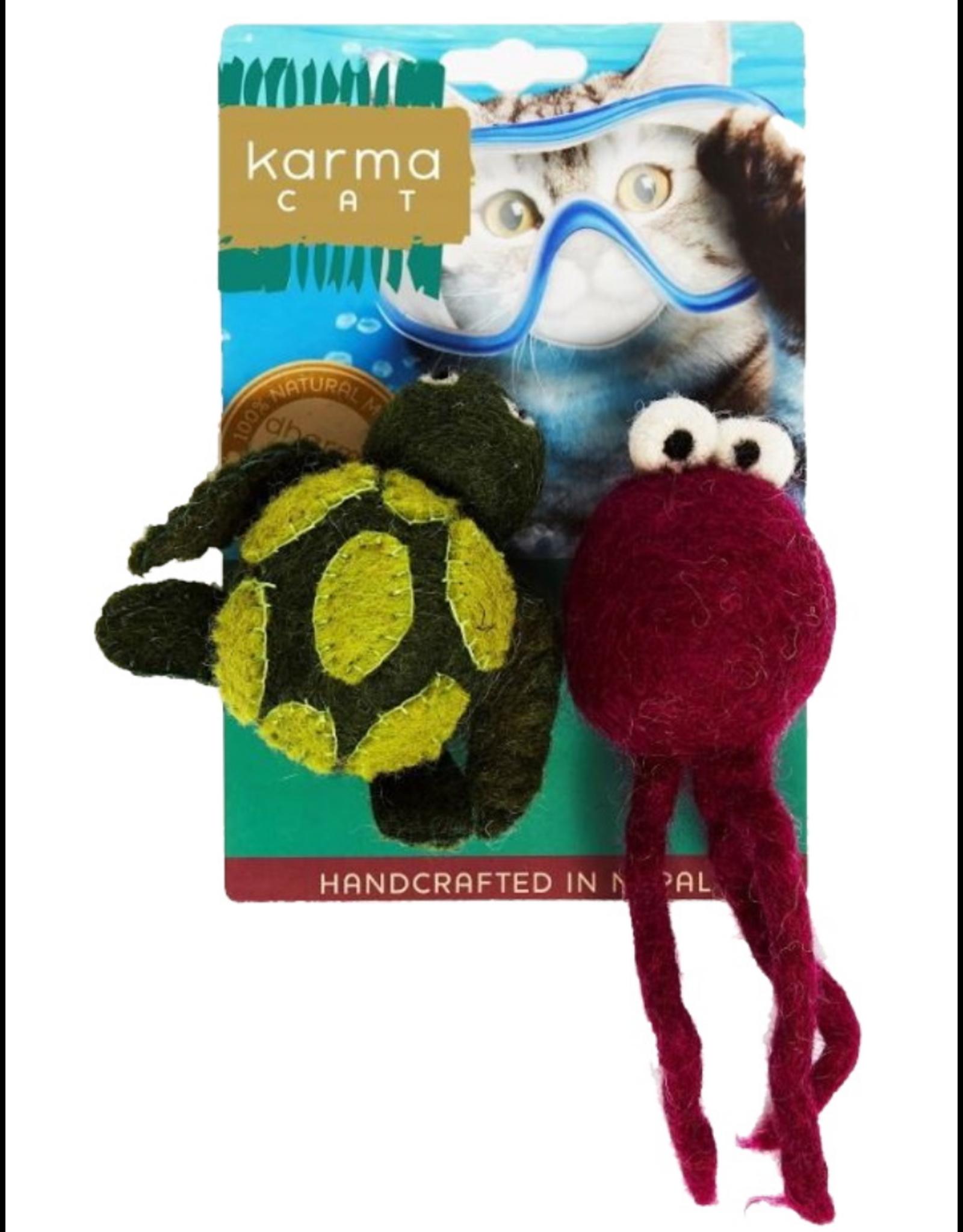 dharma dog and Karma cat Dharma Dog Karma Cat - Turtle and Jellyfish - Set of 2