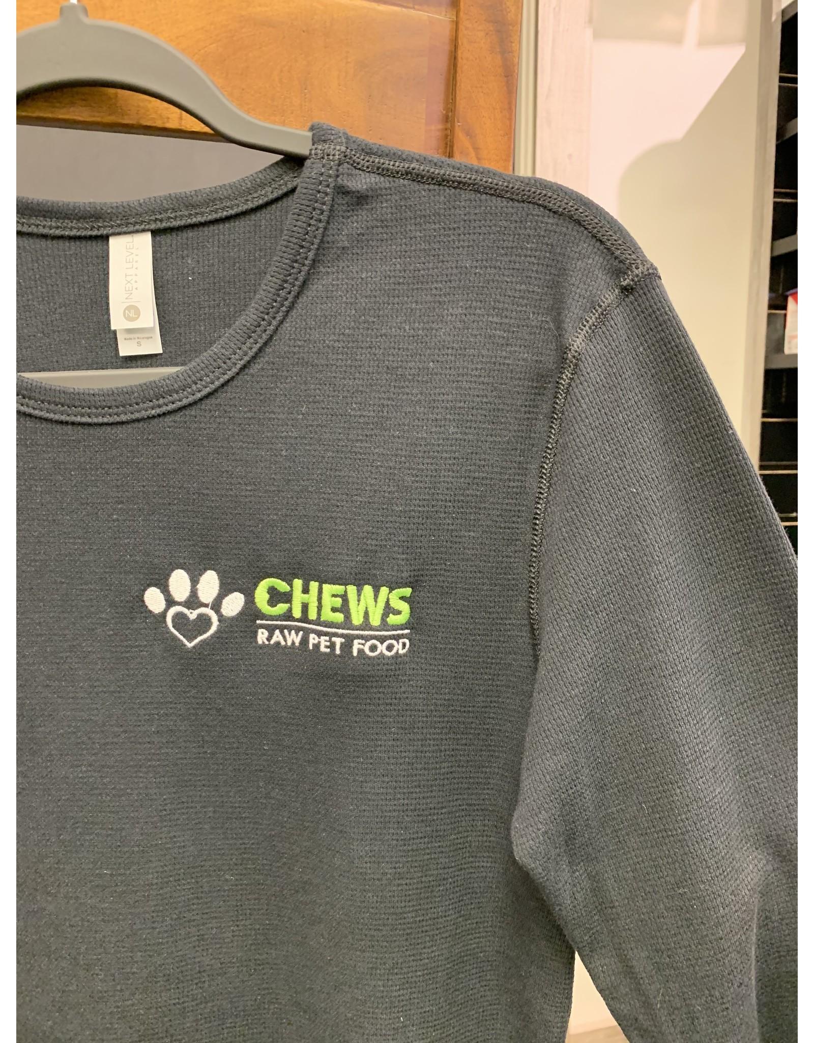 Chews Chews - Apparel - Waffle Long Sleeve - Black