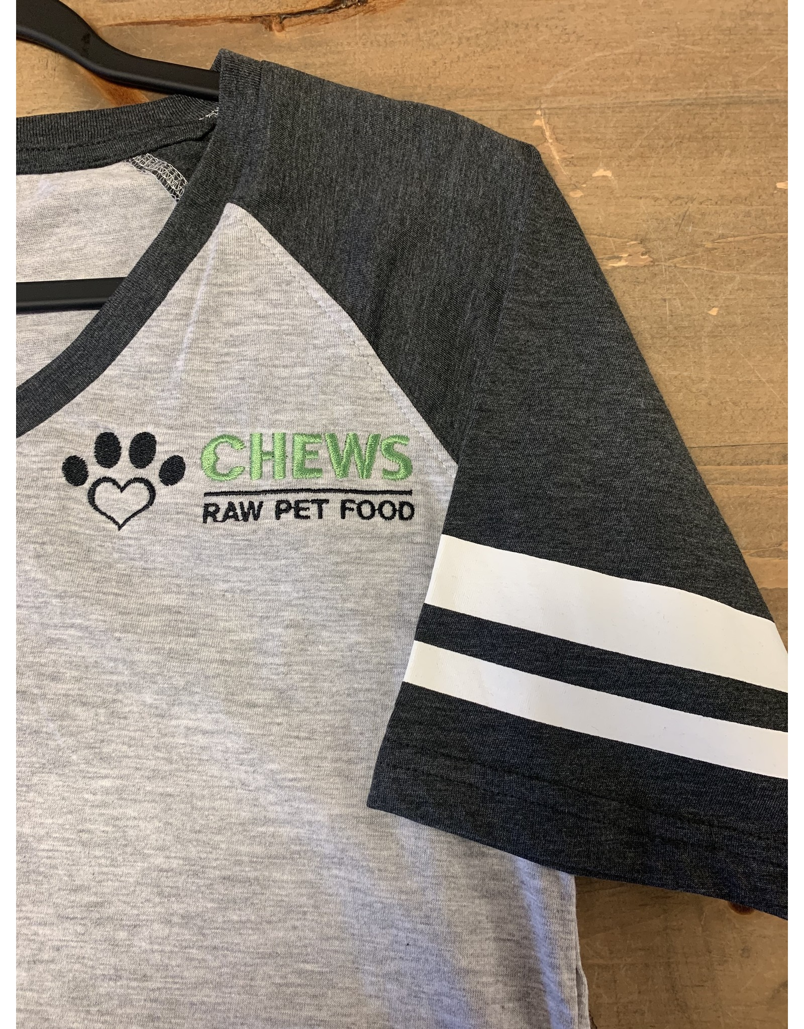 Chews Chews - Apparel - Baseball Tee - Grey