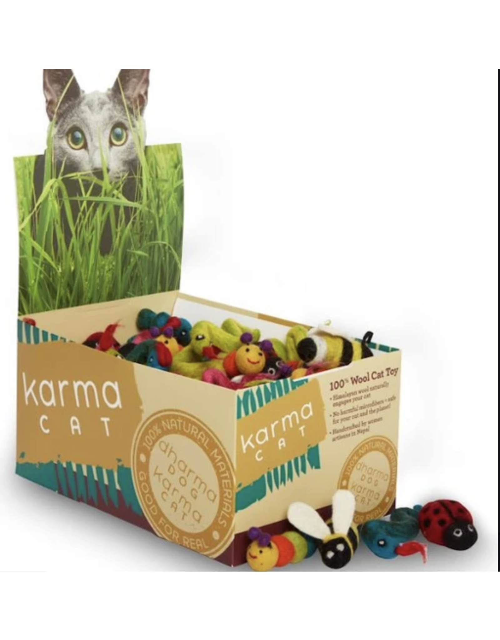 dharma dog and Karma cat Dharma Dog Karma Cat - Wool Felt Back Yard Bugs - Single