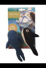 dharma dog and Karma cat Dharma Dog Karma Cat - Whale and Orca - Set of 2