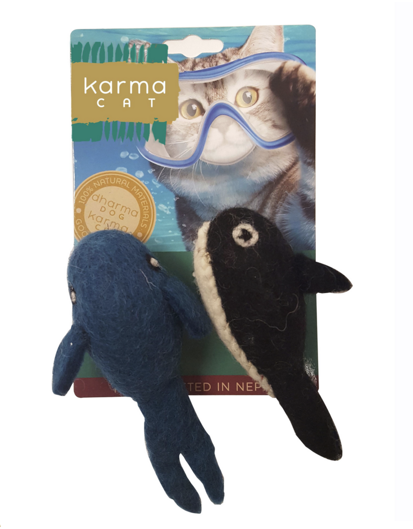 dharma dog and Karma cat Dharma Dog Karma Cat - Whale and Orca - Set of 2