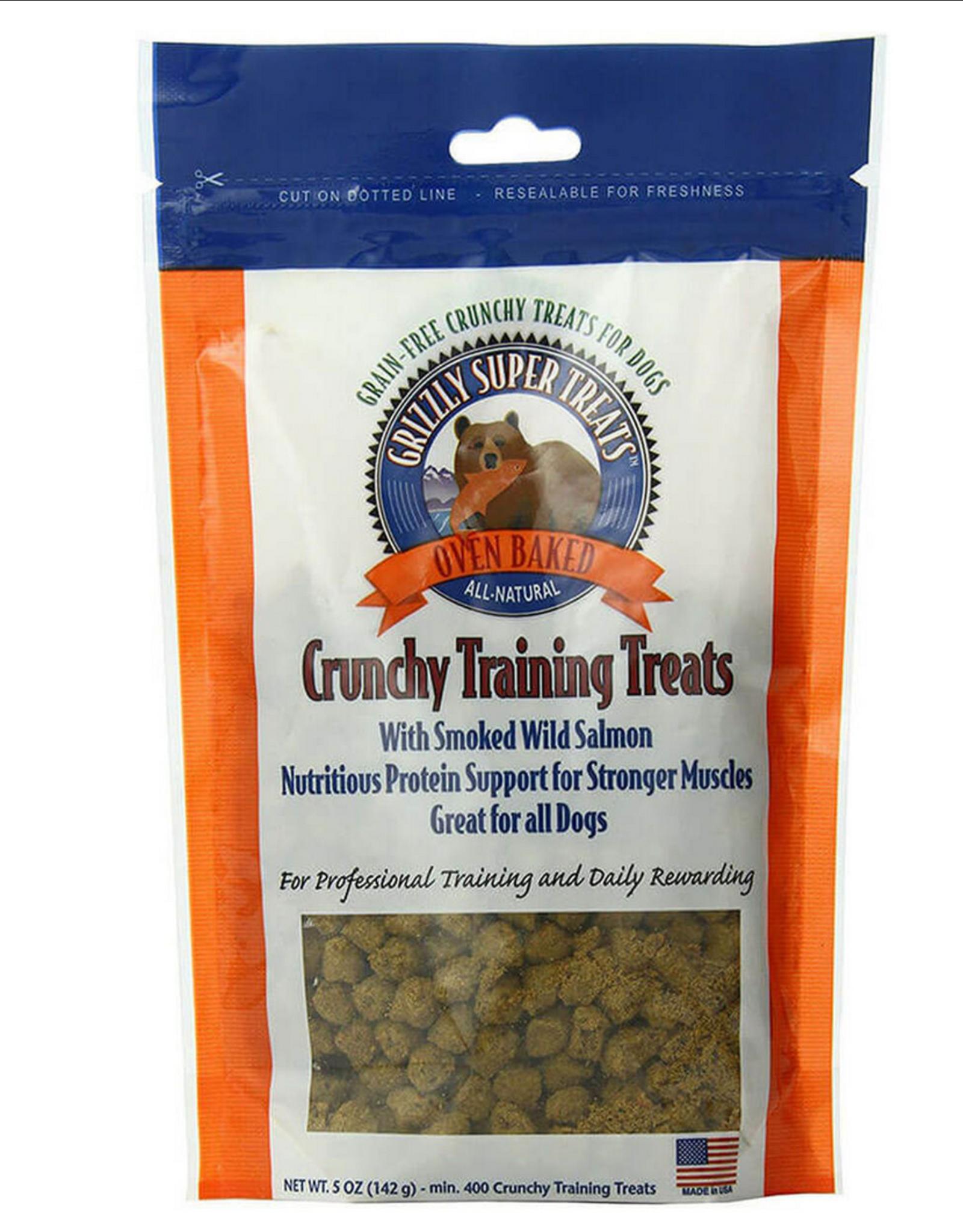 Grizzly Crunchy Training Treats - Smoked Wild Salmon - 5oz