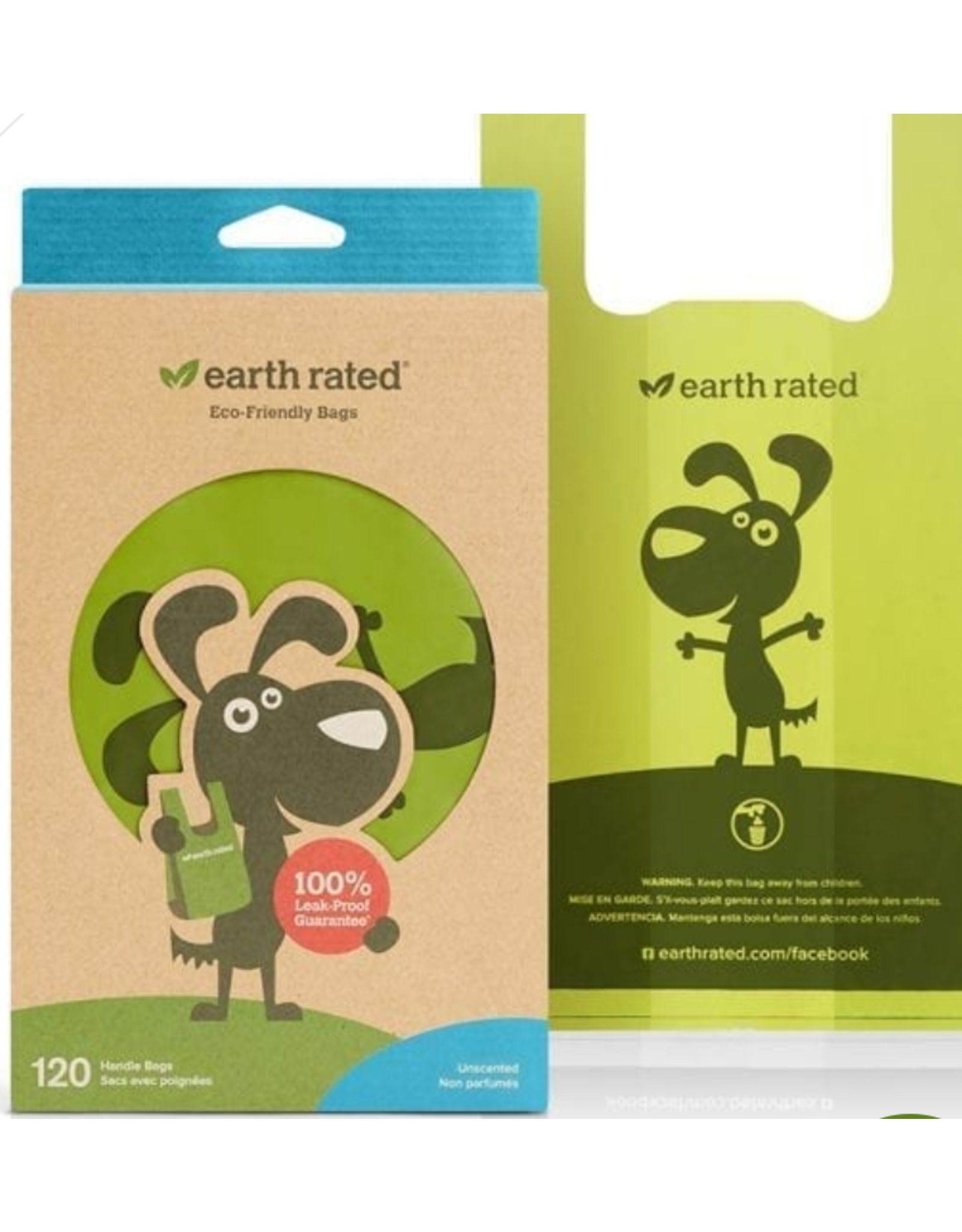 Earth Rated Earth Rated Poop Bags with Handle - 120  - Unscented