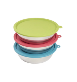 Messy Mutts Messy Mutt - 6pc Bowl with Lid Set