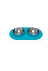 Messy Mutts Messy Mutts - Dbl Silicone Feeder w/ Stainless Bowl XL