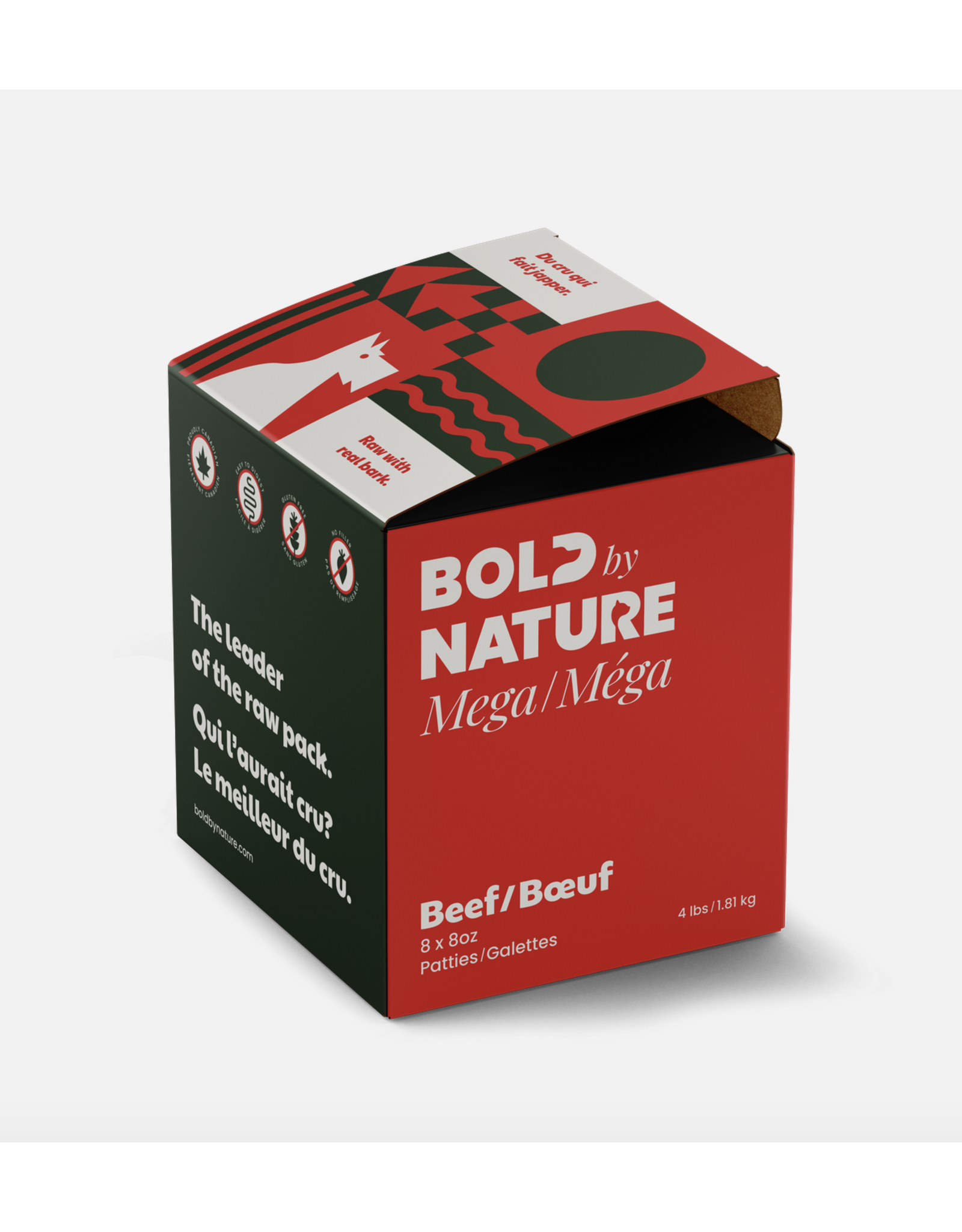 Mega Dog Bold by Nature - Mega - Beef - 4lb Box