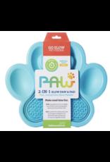 Pet Dream House Paw 2-1 Slow Feeder - Blue