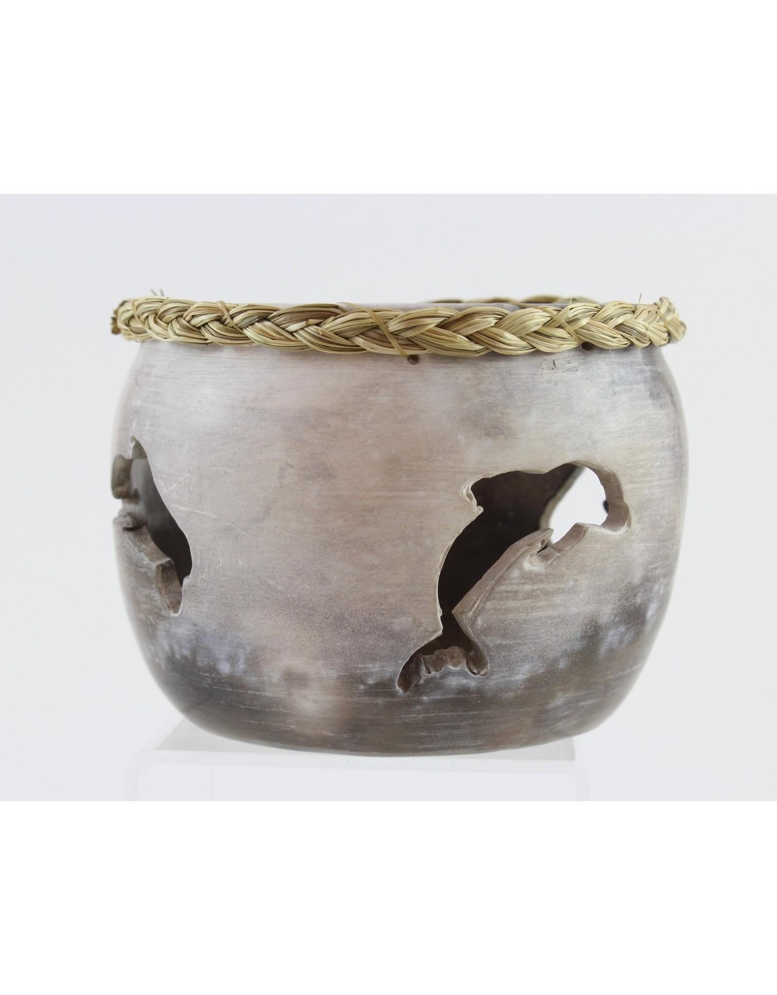 Nancy Oakley Smoky Dolphin Pot by Nancy Oakley