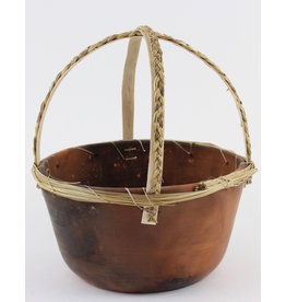 Nancy Oakley Basket with Braided Handles by Nancy Oakley