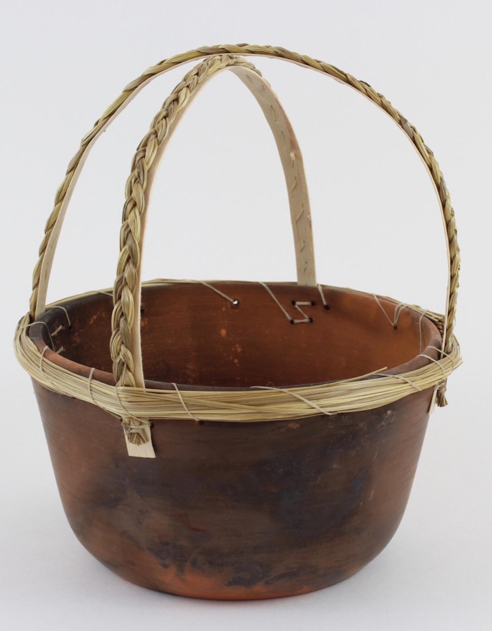 Nancy Oakley Basket with Braided Handles by Nancy Oakley