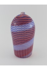 Wendy Smith Striped Red Vase by Glass Artisans Studio