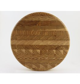 Larch Wood Canada Round Cheese Board by Larch Wood Canada