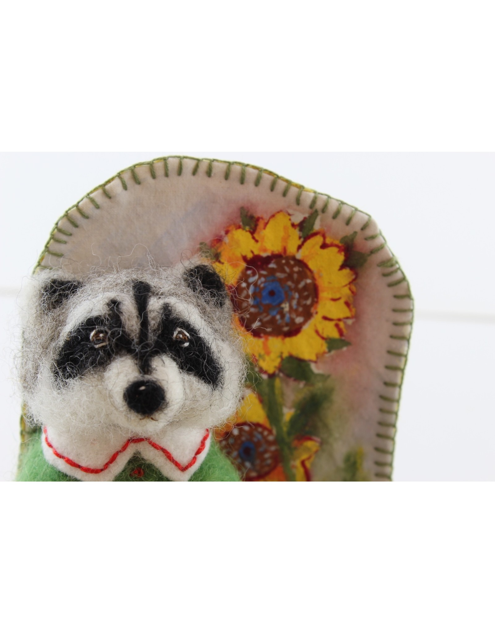 Virginia Donovan Sunflower Raccoon by Virginia Donovan