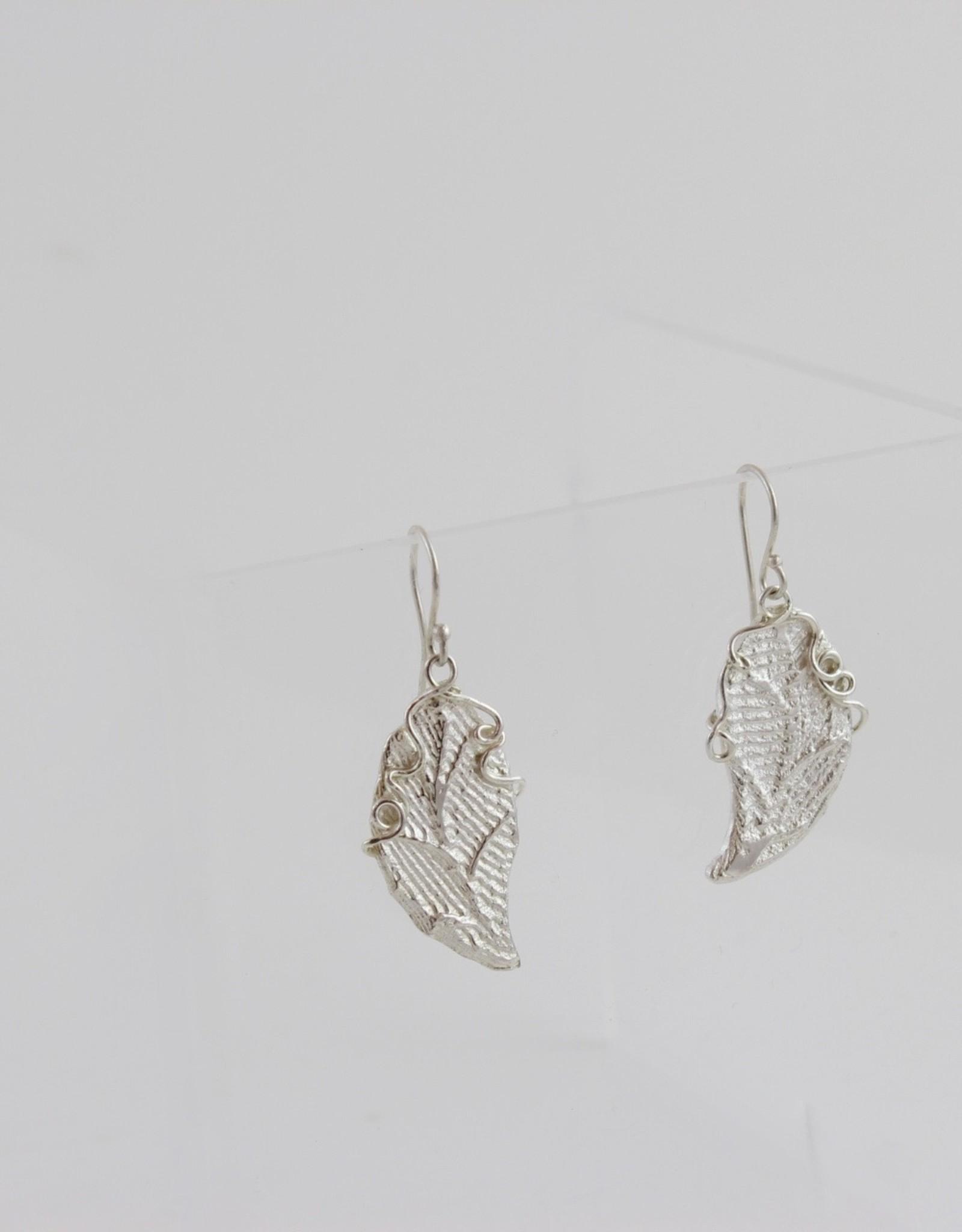Teddy Tedford Leaf & Vine Earrings by Teddy Tedford