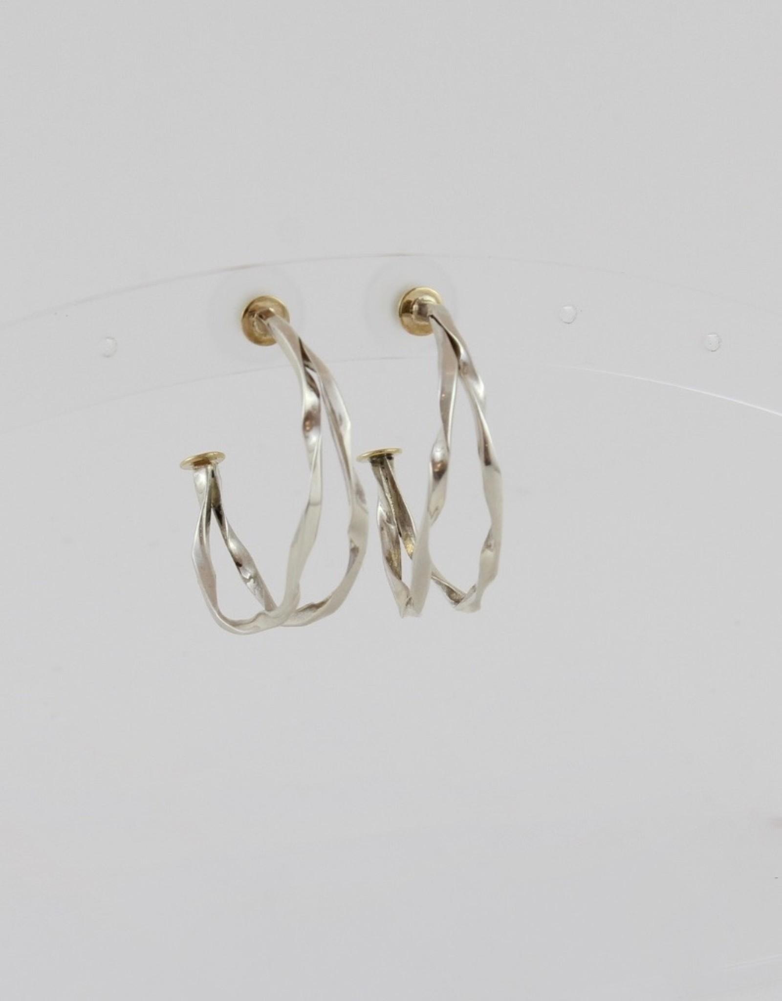Karen Wawer Twisted Hoops by Karen Wawer