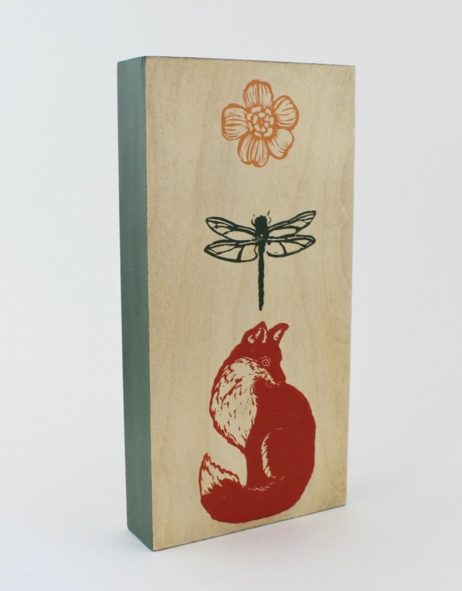 Cabot & Rose Animal Block Print on Wood Panel by Cabot & Rose